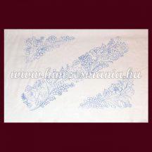 Hímezhető előnyomott kalocsai díszpárna huzat - 40x60 cm