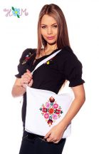 Bag - hungarian handmade - with Matyo embroidered - white