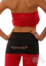 Waist Warmer machine embroidered Matyo style - black