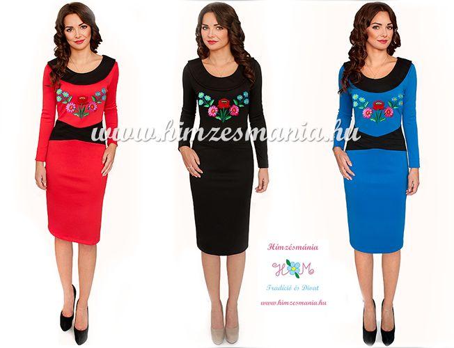 38c46ef734 Kalocsai mintás ruha - kézi hímzés - kék (36) - Hímzésmánia | Divat ...