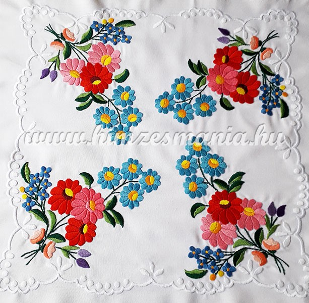 281579407c Small tablecloth - hungarian folk - hand embroidery - Kalocsa style - 36x36  cm