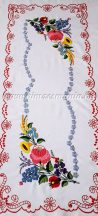 Tablecloth - hungarian folk - hand embroidery - Kalocsa style- 35x84 cm