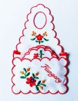 Coaster - hungarian machine-embroidery - matyo style