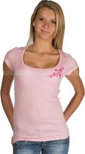 Embroidery Mania - T-shirt Kalocsa hand-embroidered - pink