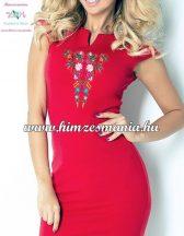 Women's dress - folk embroidery - Kalocsa style - red
