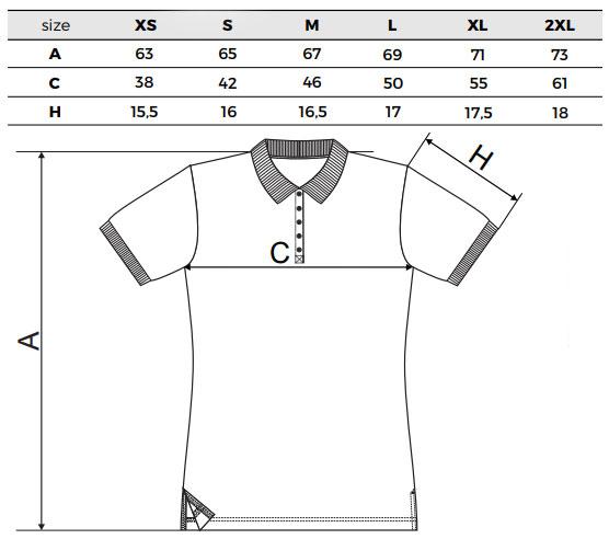Matyó hímzett póló mérettáblázat